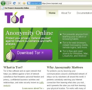 Página principal del proyecto Tor
